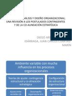 TEORÍAS DEL ANÁLISIS Y DISEÑO ORGANIZACIONAL