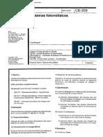 NBR CB 209 - Sistemas fotovoltaicos