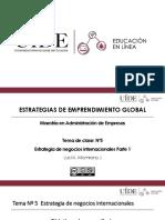 Tema 5.1 Estrategia de negocios internacionales
