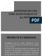 PRESENTATION ON LIFE TIME ACHIEVEMENT OF
