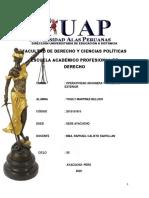 TRABAJO OPERATIVIDAD ADUANERA Y COMERCIO EXTERIOR COD. 2015151815 DUED. AYACUCHO