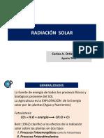 (2)Radiación Solar