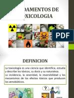 TEMA 1 FUNDAMENTOS TOXICOLOGIA