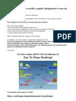 Spiegazione Utilizzo Desktop Zen to Done