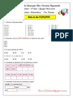 Aula de Matemática -6º Ano - 05 - 06  -2020
