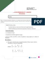 Guía 1 Matemática 6° Agosto