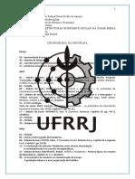 Cronograma econômico-social idade média - UFRRJ