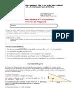 Guía 4 Matemática 8° Septiembre Teorema de Pitágoras
