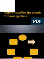 Factors That Effect the Growth of Microorganisms