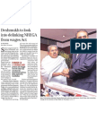 Business Standard - 21 Jan 2011 - Deshmukh to Look Into Delinking NREGA for Wages Act