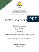 Resolução Braja M Das - Capítulo 02 - Origem do solo e tamanho dos grãos.docx