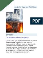 CATECISMO DE LA IGLESIA CATOLICA Y EL INFIERNO
