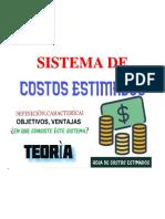 SISTEMA DE COSTOS ESTIMADOS
