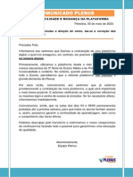 COMUNICADO PLENUS - Assunto - INSTABILIDADE E MUDANÇA NA PLATAFORMA.pdf