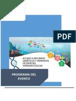 PROGRAMA - ACCESO A LOS RECURSOS GENÉTICOS Y DERIVADOS DE ESPECIES HIDROBIOLÓGICAS