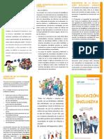 Tríptico_ Educación Inclusiva (Equipo SAANEE)