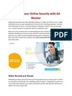Improve your Online Security with Ad Blocker