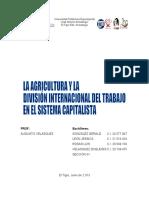 LA AGRICULTURA Y LA DIVISIÓN INTERNACIONAL DEL TRABAJO EN EL SISTEMA CAPITALISTA