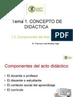 1.3. Componentes del acto didáctico