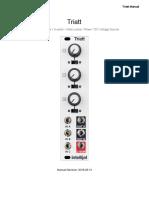 Intellijel Triatt manual 2018.09.13