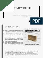 ASSIGNMENT 2; MATERIAL;HEMPCRETE
