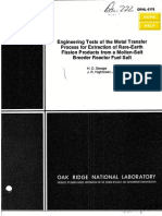 Metal Transfer Process for Extraction of RE