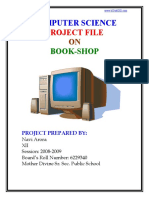 comp project book shop