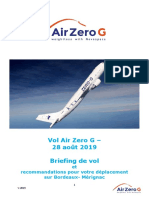 Briefing vol Air Zero G - 28 aout 2019 FR