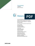 SOLUCIONARIO CUADERNO 6.1
