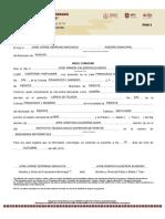 FMV-1 Constancia de Ingresos No Comprobables