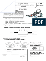 représentation fonctionnelle d'un système technique évaluation