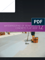 Water proofing of rc flat roof method