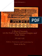 A Short Chronicle on the End of the Sasanian Empire and Early Islam, 590-660 AD