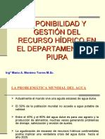 Disponibilidad y gestión de los recursos hídricos en el Dpto. de Piura- I