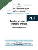 Analiza textului de expresie engleza - Isabela Merila _G. Colipca_