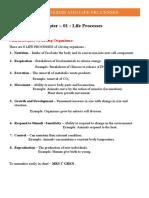 Bio - UNIT 1 - Organisms And Life Processes.docx