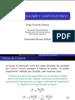 FUERZA DE COULOMB Y CAMPO ELÉCTRICO