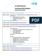 Updated Draft Agenda with Key Discussion Points - 10th MiNE INDIA, 13th Dec 2019, Mumbai, Bangalore (1)