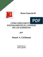 Bonus Especial 4. Stuart Lichtman - Implementar Exitosamente El Consejo de Los Expertos
