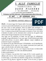 Lettera alle Famiglie - 30 gennaio 2011