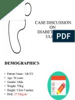 Case on diabetic foot ulcer
