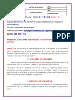 GUÍA # 1 TERCER PERIODO SUSTANTIVOS Y ADJETIVOS CASTELLANO 6-2 Y 6-3