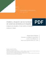 Análisis y situación de los hombres víctimas de violencia doméstica en España