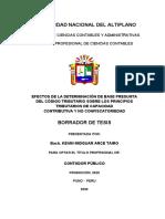 ESQUEMA FINAL  DE BORRADOR DE TESIS -- ARTICULO CIENTIFICO