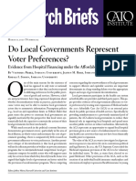 Do Local Governments Represent Voter Preferences? Evidence from Hospital Financing under the Affordable Care Act