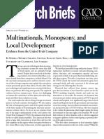 Multinationals, Monopsony, and Local Development
