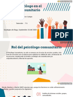 Rol del psicólogo comunitario