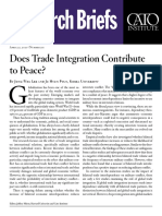 Does Trade Integration Contribute to Peace?