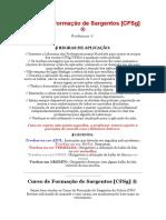 [DPH 2020] CFSg Curso de formação de sargentos COM RESPOSTAS