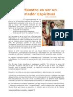 Articulo Ser Maestro es Ser un Formador Espiritual